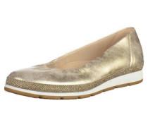 Ballerinas gold / weiß