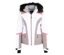 Winterjacke 'Nickan' beige / orange / weiß