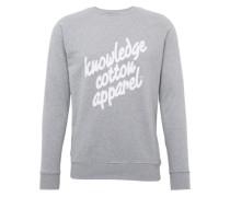 Sweatshirt 'osc' graumeliert / weiß