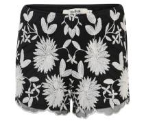 Zweilagige Shorts schwarz / weiß
