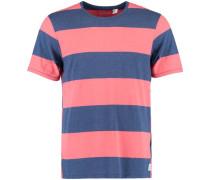 'T-shirt LM Vintage Stripe' blau / rot