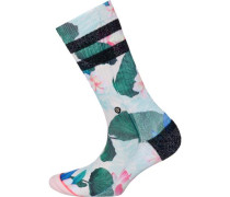 Socken opal / dunkelgrün / rosa