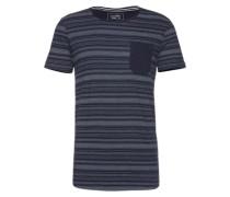 Shirt 'pigment printed stripe tee' schwarz