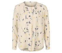 Bluse mit Klecks-Print gelb