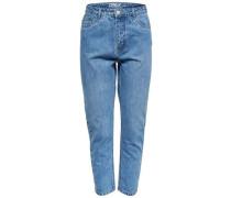 Mom-Regular fit Jeans 'Kelly' blue denim