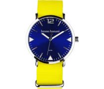 Quarzuhr blau / gelb