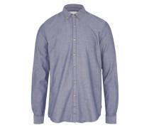 Hemd 'chambrays patterned' dunkelblau