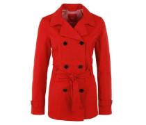 Jacke im Trenchcoat-Style rot