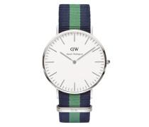Uhr 'Classic Collection Warwick' marine / grün / silber