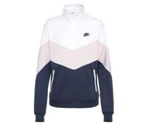 Sweater marine / rosa / weiß