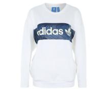 Sweatshirt mit Logo weiß