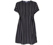 Lockeres Kleid navy / weiß