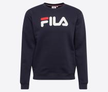 Sweatshirt weiß / dunkelblau