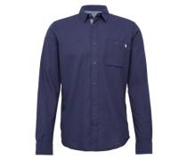 Hemd 'Floyd soft melange shirt' blau