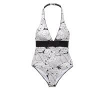 Badeanzug mit Schleife 'Bnala 503 Nageur' weiß / schwarz
