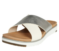 'Kari Metallic' Sandale silber