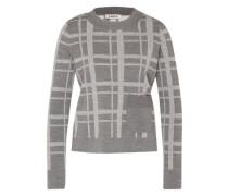 Pullover 'Ray' grau / weiß