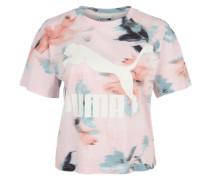 T-Shirt 'aop' mischfarben / rosa / weiß
