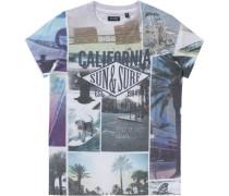T-Shirt für Jungen blau / schwarz / weiß