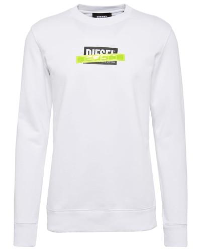 Sweatshirt neongelb / schwarz / weiß