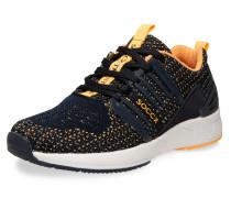 Premium Sneaker mit Strick-Struktur blau