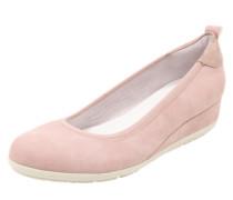 Ballerina mit Wedgeabsatz rosa