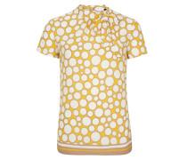 Bluse weiß / gelb