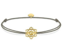 Armband 'Lotosblüte' gold / dunkelgrau