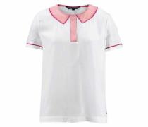 Klassische Bluse rosa / weiß