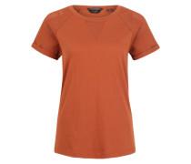 T-Shirt mit Mesh-Ärmeln rostrot