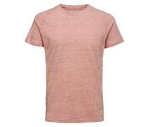 Rundhalsausschnitt T-Shirt rotmeliert