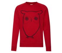 Sweatshirt mit Eulen-Print rot