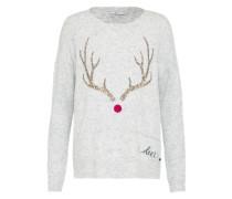 Pullover 'Xmas Oh Deer' hellgrau