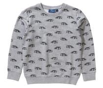 Sweatshirt mit Auto All-Over für Jungen graumeliert