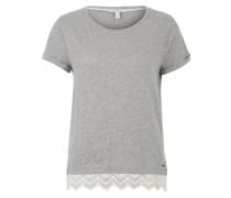 T-Shirt mit Spitze graumeliert