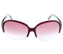 Sonnenbrille rot / transparent