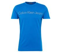 T-Shirt mit Logo-Print blau / grau