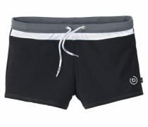 Boxer-Badehose grau / schwarz / weiß