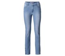 Bodyform-Röhrenjeans blue denim
