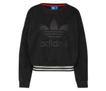 Sweatshirt mit transparenten Akzenten schwarz / weiß