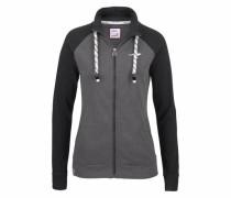 Shirtjacke dunkelgrau / schwarz / weiß