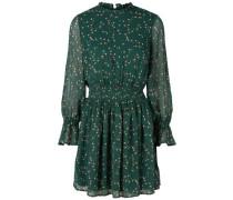 Blumen-Chiffon-Kleid grün