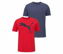 T-Shirt 'mens TEE Pack PF 2' navy / rot