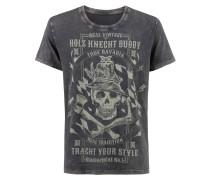 Shirt 'Buddy' graphit / hellgrau