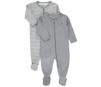 Schlafanzug 2er-Pack graumeliert
