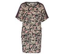 Kleid mit Mustermix pink / schwarz