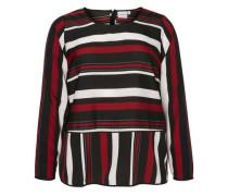 Langärmlige Bluse beige / rot / schwarz