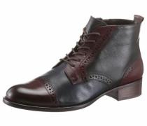 -Ankle-Boots blau / bordeaux / schwarz