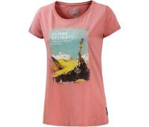 'Alpstöckli' T-Shirt Damen lachs