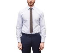 S.OLIVER PREMIUM Krawatte im Karo-Design braun